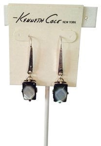 Kenneth Cole Silver-Tone Shell Long Drop Earrings