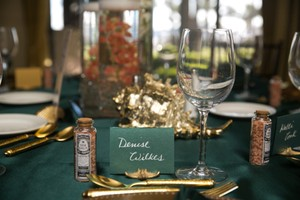 Gold Shell And Starfish Table Decor 20 Ct