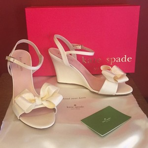 Kate spade wedding shoes on sale up to 90 off at tradesy kate spade ivory ibella retails wedges size us 75 regular m b junglespirit Images