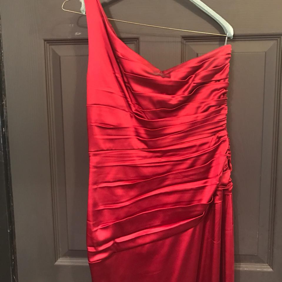 Jax red satin mid length cocktail dress size 12 l tradesy jax dress 123456 ombrellifo Gallery