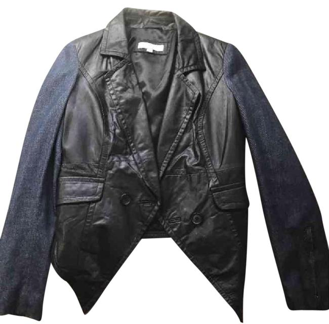 Item - Black/Denim Leather With Blazer Size 2 (XS)