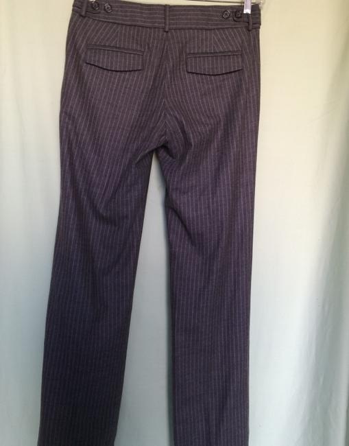 Banana Republic Trouser Pants Gray w/White Pinstripe