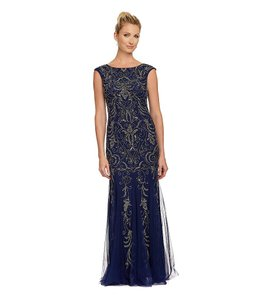 Adrianna Papell Cap Sleeve Beaded Gown Bridesmaid Dress