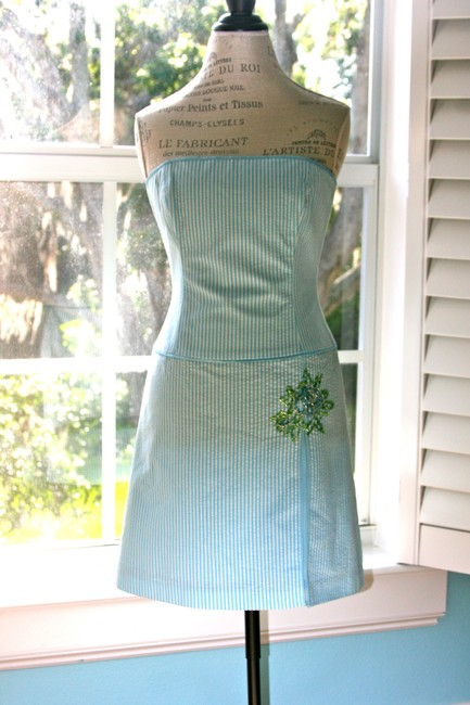 Laundry by Shelli Segal Occasion Casual Strapless Beaded Dress