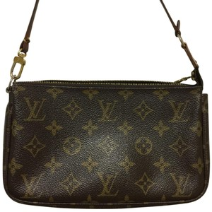 Louis Vuitton brown & gold Clutch