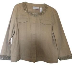 Liz Claiborne tan gold bronze Jacket