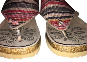 Muk Luks multi color Sandals