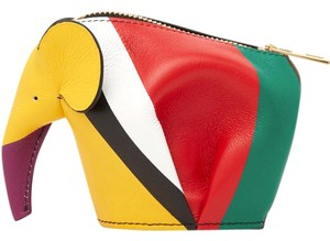 Loewe Loewe Multi Stripe Elephant Coin Purse