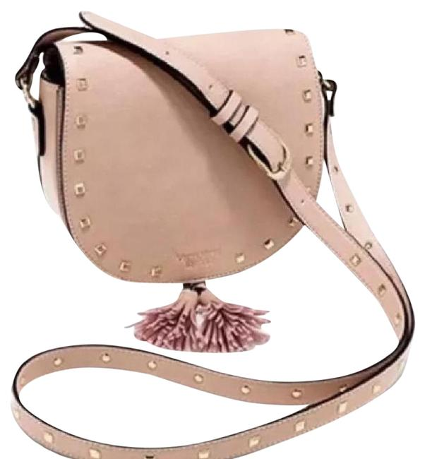 Victoria's Secret Studded - New Pink with Stud Detail Leather Cross Body Bag Victoria's Secret Studded - New Pink with Stud Detail Leather Cross Body Bag Image 1