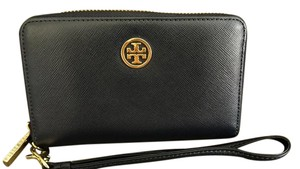 Tory Burch Phone Wallet Wallet Phone Italian Leather Wristlet in Navy