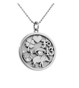 Jennifer Meyer Jewelry Jennifer Meyer -Good Luck Charm Necklace - White Gold