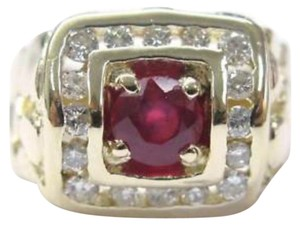 Other Fine Man's Gem Ruby Diamond Nuggest Ring 14KT 1.90Ct