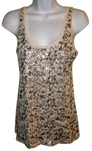 Express Sequin Embellished New Tunic Top Ivory