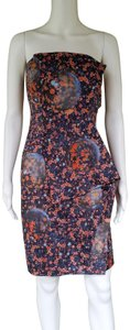 Cacharel short dress Blue Strapless Cotton Origami Planets Solar System on Tradesy