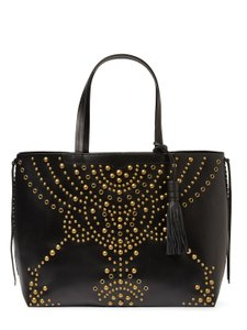 Rebecca Minkoff Leather Runway Gold Hardware Eclectic Tote in Black