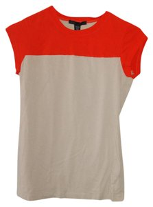 Kenneth Cole T Shirt safety orange and camel