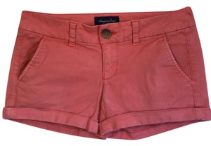 American Eagle Outfitters Cuffed Shorts Coral