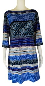 Donna Morgan Pull-on Shift Slinky 3/4 Sleeves Dress