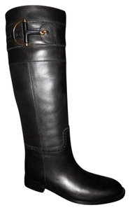 Gucci Horsebit Class Knee High Riding Black Boots