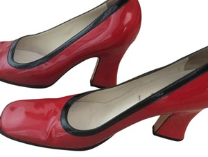 Prada Red & Black Pumps