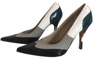 Dollhouse Oxford Saddle Brogue Vintage Teal white grey black Pumps