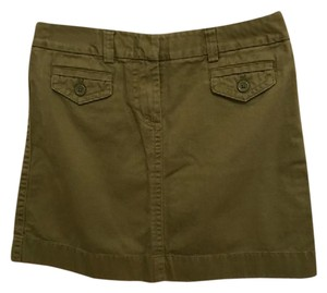 J.Crew Casual Mini Skirt green