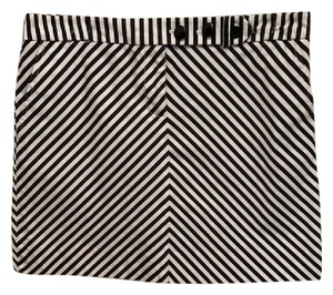 J.Crew Casual Striped Mini Skirt white and navy