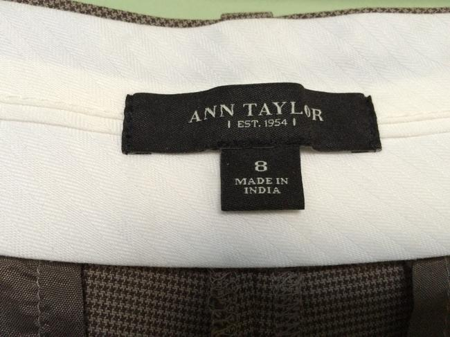 Ann Taylor Capris Brown & Beige Plaid