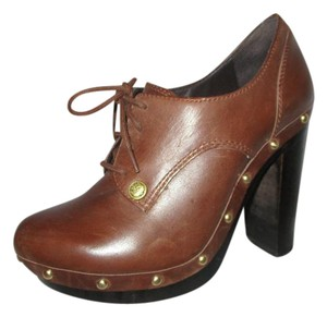 Vince Camuto Leather Oxford Pumps brown Platforms
