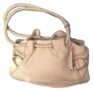 Cole Haan Saddle Grain Leather Braided Leather Hobo Bag