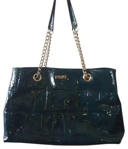 Kate Spade Patent Leather Tote in Dark Teal