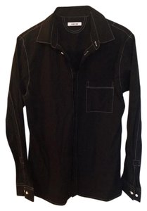 Helmut Lang Button Down Shirt Black/White
