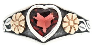 James Avery James Avery Sterling Silver and 14K Yellow Gold Garnet Heart Ring