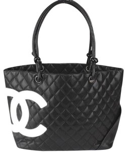 Chanel Boy Cambon Quilted Tote Shoulder Bag
