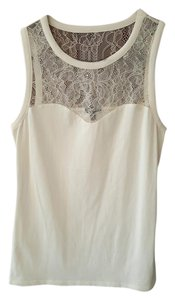 Express Lace Ivory Top White