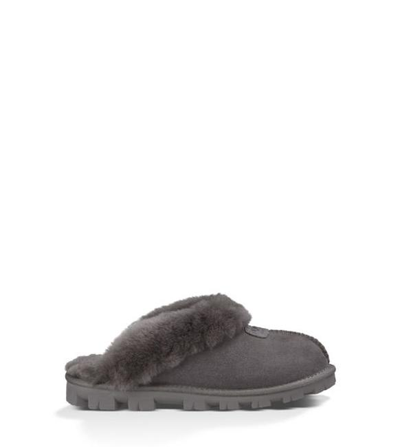 Item - Gray Coquette Suede Shearling Slipper Flats Size US 6 Regular (M, B)