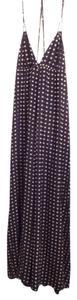 Black, taupe Maxi Dress by Christopher Deane New Tag Maxi Silk Halter Long