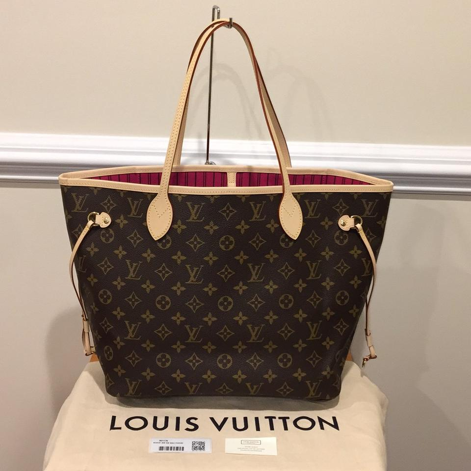 louis vuitton neverfull mm brand new pivoine tote bag totes on sale. Black Bedroom Furniture Sets. Home Design Ideas