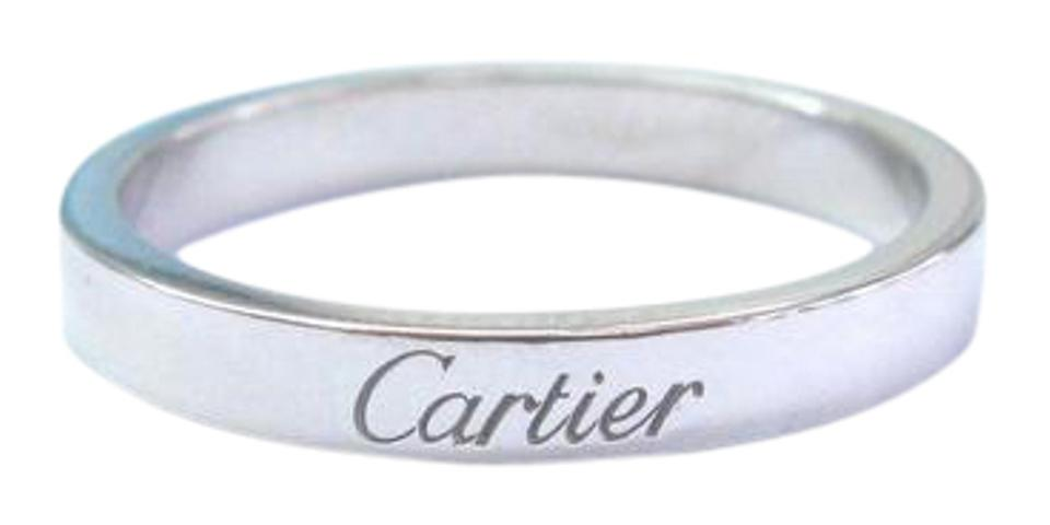 Cartier platinum wedding band size 58 3mm ring tradesy 1234 junglespirit Image collections