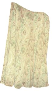 Geoffrey Beene A-line Skirt Beige, green, brown, white