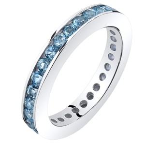 Other Swiss Blue Topaz Eternity Band