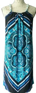 Muse short dress Blue Chains Knee Length Floral on Tradesy