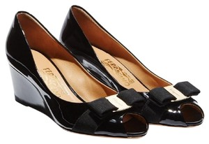 Salvatore Ferragamo Black Wedges