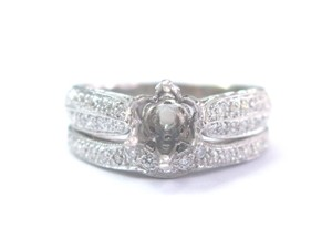 Coast Coast 18Kt White Gold Diamond Mounting Ring .53Ct ( Round .70Ct-1.00Ct
