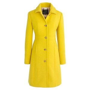 J.Crew Double Cloth Lady Day Yellow Thinsulate Pea Coat