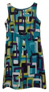 Jessica Howard short dress teal purple white chartreuse black Modern Pattern Bold Colorful Short Party on Tradesy