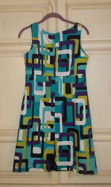 Jessica Howard short dress teal purple white chartreuse black Modern Pattern Bold Colorful Short Party on Tradesy Image 3