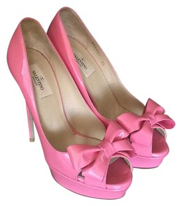 Valentino Patent Leather Pink Platforms