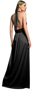 Halston Gown Backless Tie Maxi Dress