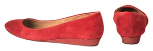 Talbots Patent Heel Suede Upper Riding Red Flats